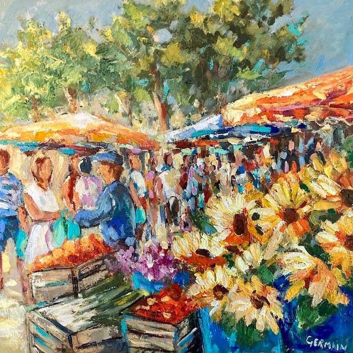 Marché et fleurs