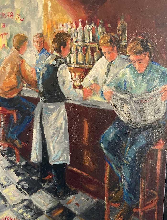 Lecture au bar