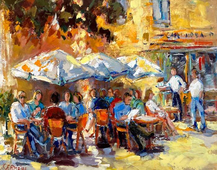 Terrasse aux parasols