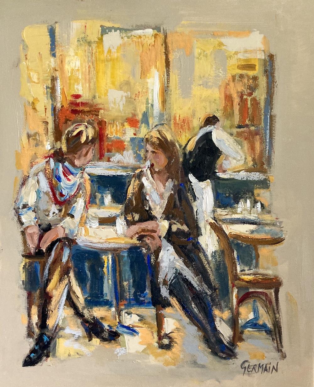 «  Les bavardes en terrasse »
